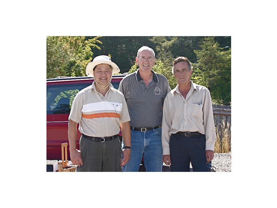 Clement Kwan, Ron Wilson and Keith Hiscock at the Boys and Girls Club September 2008