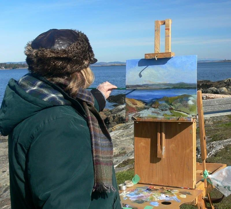 Jesi Barron painting en plein air